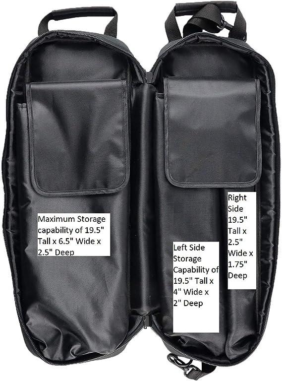 9 in Long x 8 in Wide x 6 in Deep Gear Bag Zipper Closure Each Black
