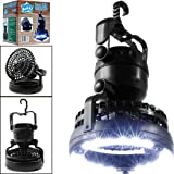 Petforu Camping Light Fan, Portable 2-in-1 LED Ceiling Fan With Emergency Light Flashlight, Portable Outdoor Survival Lamp