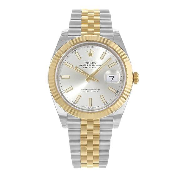 570cd281de39b Rolex Datejust acciaio INOX 41 & 18 K giallo oro Giubileo quadrante orologio  argento 126333