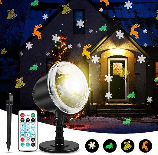 Womdee Proyector de Navidad Luces al Aire Libre, Luz de proyector ...