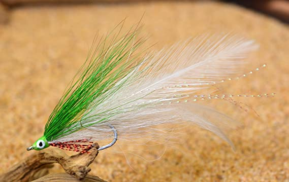 Freshwater 2pcs Streamer Fly Fishing Flies Clousers Minnow Lure Saltwater