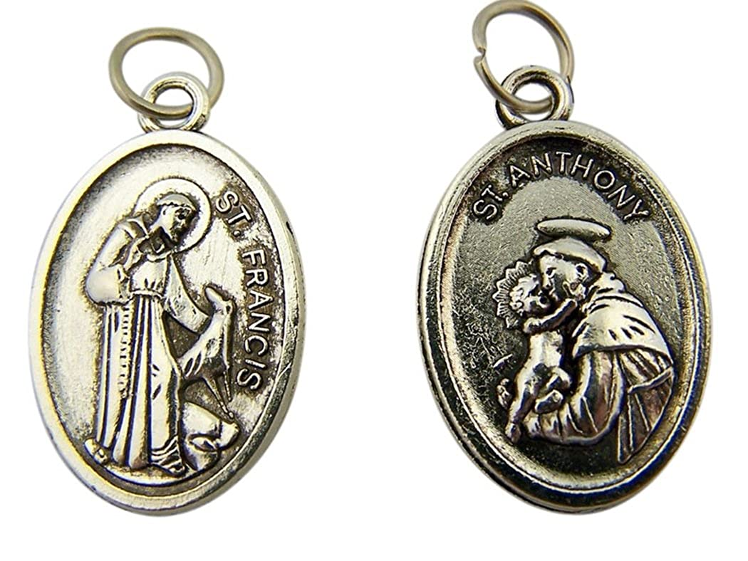 Crafts Beads & Jewellery Making 10 x Antique Silver Catholic Saint
