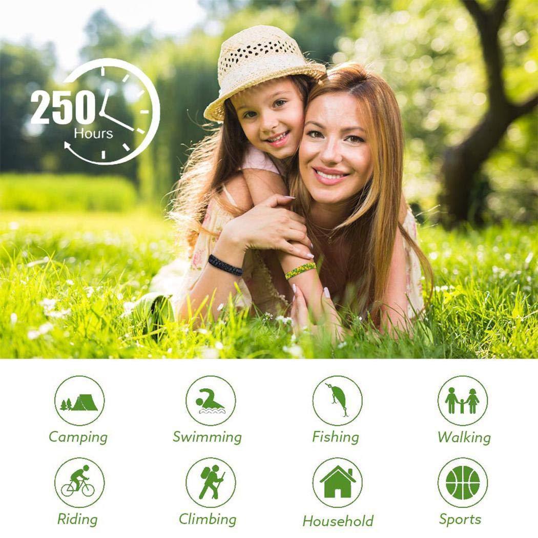 SummerRio Pulsera Repelente de Mosquitos Trenzada Unisex Anti-Mosquito Pulsera Abejas Avispas y avispones