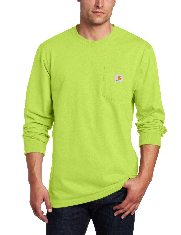 Carhartt メンズ 作業服 ミッドウェイトジャージ ポケット 長袖Tシャツ K126 B01831MNY8 XL|Sour Apple Sour Apple XL