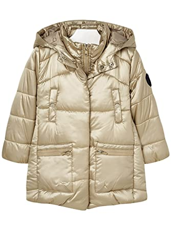 Mayoral 18-04429-010 - Padded Coat for Girls 2 Years Champagne
