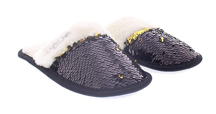 cc6f2764785 bebe girls Sequin Slippers,Kids Faux Fur House Shoes,Princess Sparkly  Slipper
