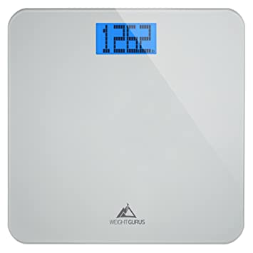 Weight Gurus Digital Bathroom Scale, Large Display, Precision Body Weight  Measurement, Accurate to