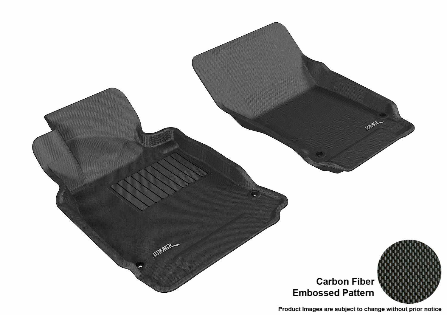 Kagu Rubber L1IN01501509 Black 3D MAXpider Complete Set Custom Fit All-Weather Floor Mat for Select Infiniti M37 Models