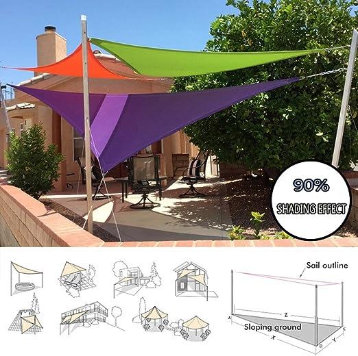 LKLXJ Vela De Toldo -Sombra Triangular -toldo para Playa,Protección Anti-UV 90%,con Ojal D,A Prueba De Agua ...