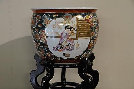 14 Chinese Porcelain Planter Jardiniere Oriental Fish Bowl