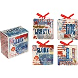 Manual Land of Liberty Decorative Mini Plate Set of Four