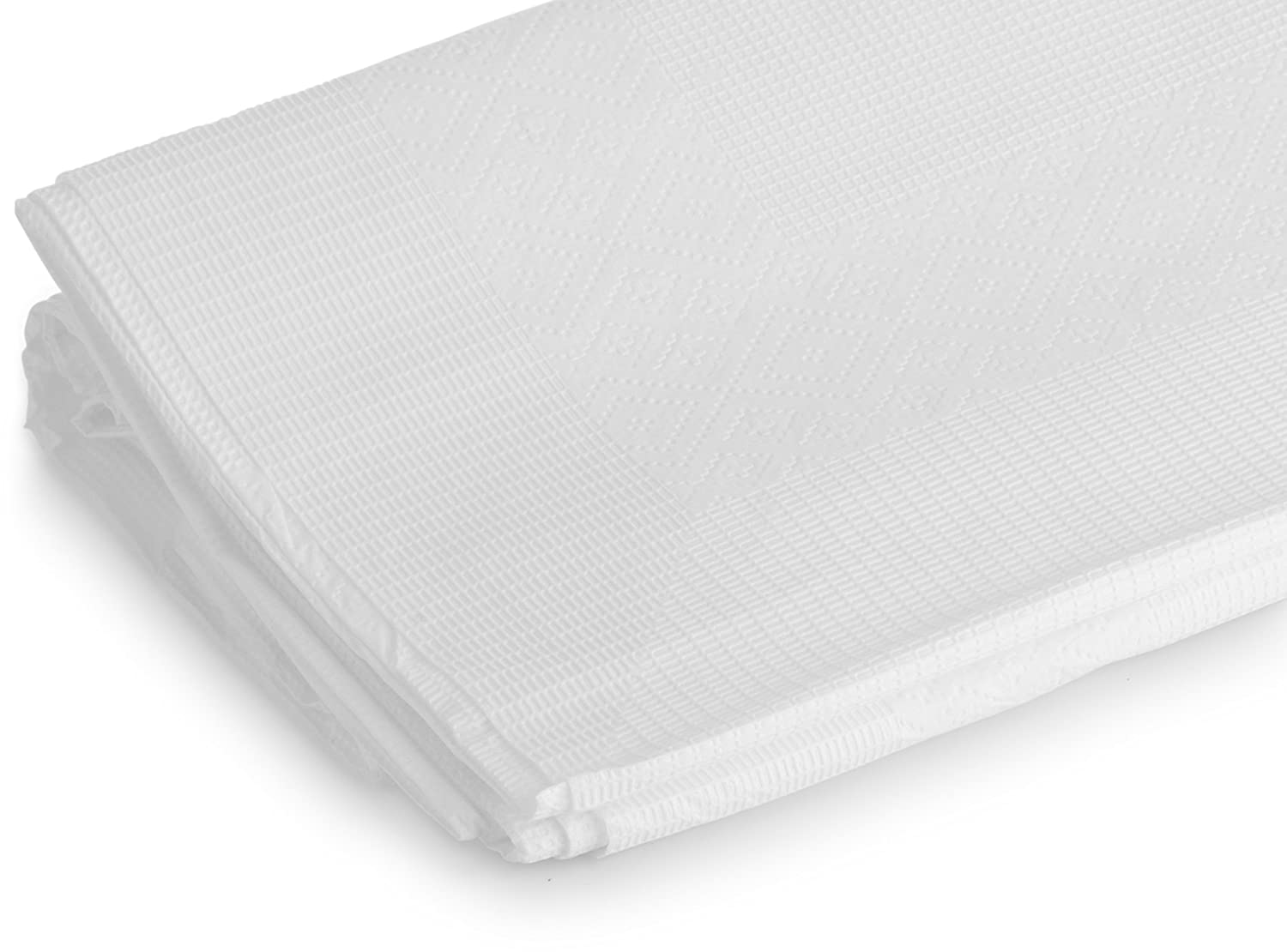 54 x 108 Pack of 3 54/'/' x 108/'/' Pack of 3 KCH Corporation Laura Stien Disposable Paper /& Plastic White Tablecovers 3 Ply