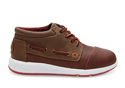 3285a26d21c TOMS Brown Synthetic Leather Youth Bimini Highs 10006340 (Size  1.5D)