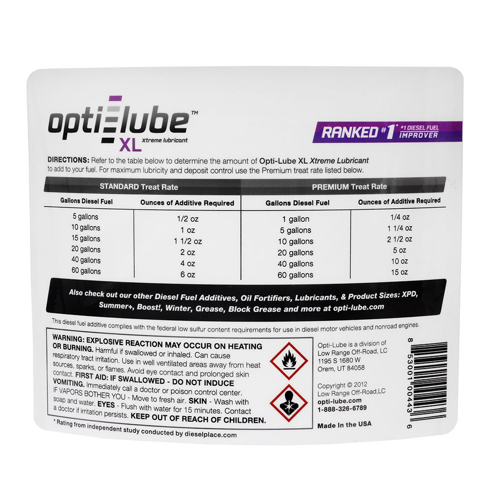 Opti-Lube XL Xtreme Lubricant Diesel Fuel Additive: 5 Gallon Pail without Accessories Treats up to 6,400 Gallons by Opti-Lube