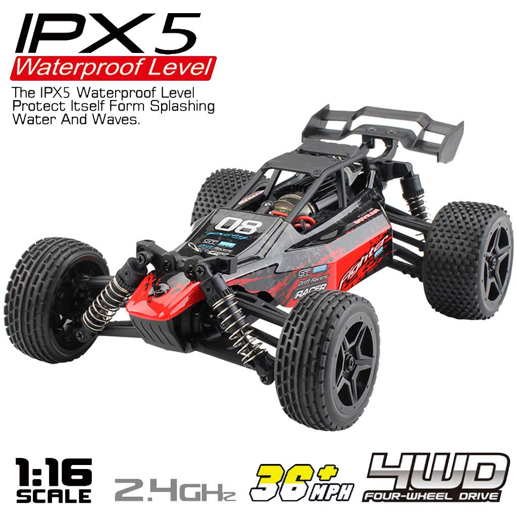 ASfairy G171 1:16 2.4G 4WD Scale Large RC Cars 36km/h+ Speed | Boys Remote Control Car Monster Truck Electric | All Terrain Waterproof Toys Trucks for Kids and Adults
