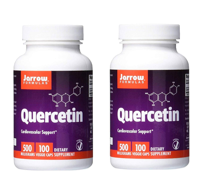 Jarrow Formulas Quercetin Cardiovascular Support 500 mg (100 Veggie Caps) Pack of 2