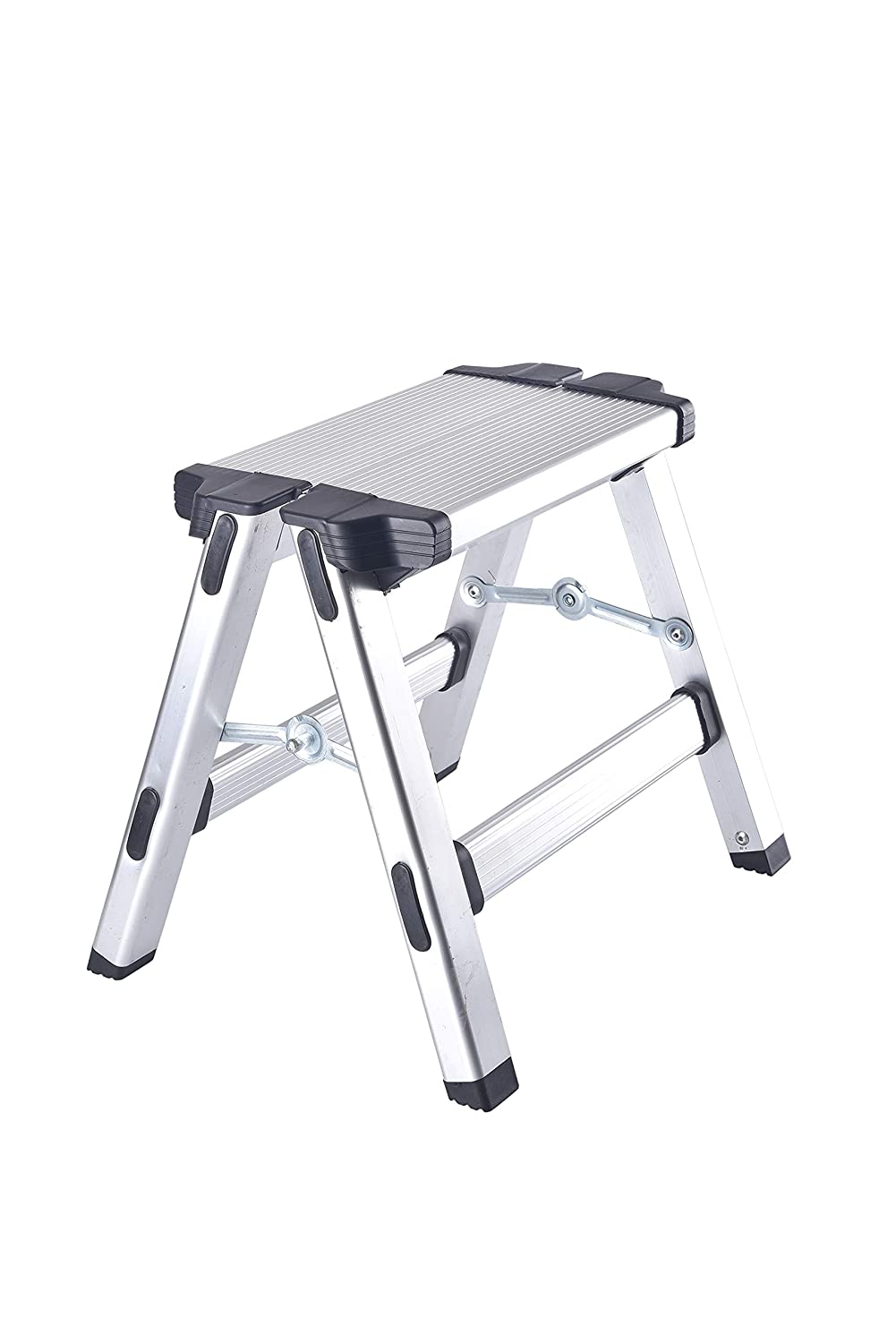 SavingPlus Aluminium Collapsible Step up Stool Folding Ladder Lightweight Workstand UK