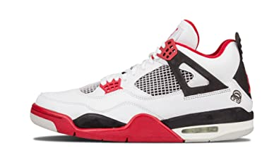 bfd6a125cef Image Unavailable. Image not available for. Color: Jordan 4 Retro Fire Red  Mars Blackmon ...