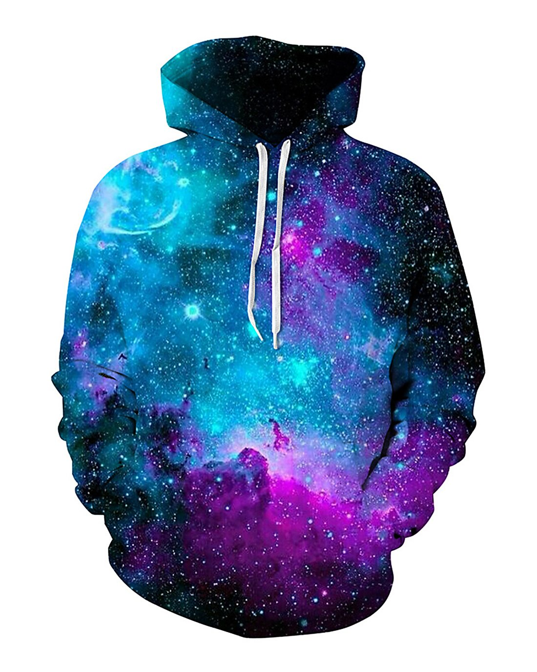 Unisex 3d Digital Pullover Sweatshirt Printed Hoodies Funny Hooded Sweatshirt Pockets