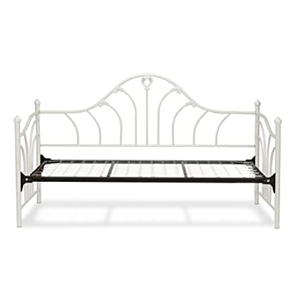 Astonishing Leggett Platt Emma Complete Metal Daybed With Link Spring Support Frame And Curved Spindles Antique White Finish Twin Cjindustries Chair Design For Home Cjindustriesco