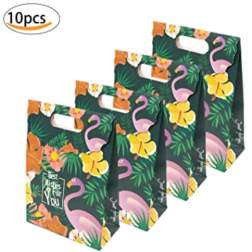 MMTX Hawaiian Party Favor Bags, Paper Gift Bags Party Bags for Hawaii Summer Garden BBQ