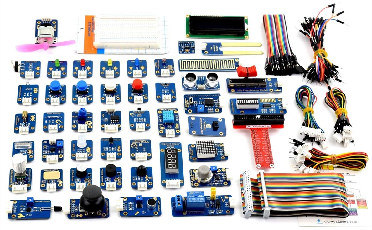 tienda Adeept 46 Modules Ultimate Sensor Kit for Raspberry Pi 3,2 3,2 3,2 B/B+, BMP180, DHT11, Raspberry Pi Sensor Starter Kit with C and Python Code, 150 Pages PDF Guidebook  venta de ofertas