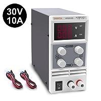 Eventek Labornetzgerät, 0-30V 0-10A DC Regelbar Netzgerät Stabilisiert Digitalanzeige Labornetzteil Netzteil Strommessgeräte