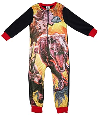 d2ba6e186 Jurassic World Boys T-Rex Dinosaur Microfleece Zip Sleepsuit Onesie Sizes  from 4 to 10 Years: Amazon.co.uk: Clothing