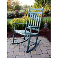 Adult Indoor/Outdoor Rocking Chair (RTA) Finish: Green