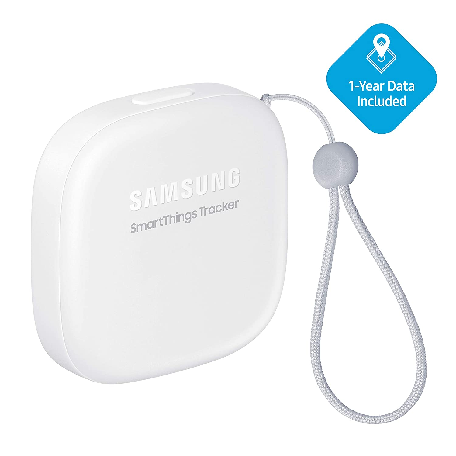Samsung SmartThings Tracker [SM-V110AZWAATT] Live GPS-Enabled Tracking via Nationwide LTE-M Networks | Use for Kids, Cars, Keys, Pets Wallets, Luggage, and More - Small, White