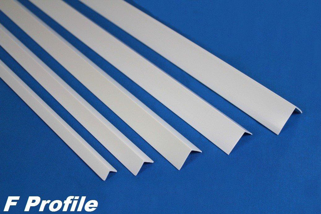Ma/ße:40x40mm 2 Meter PVC Winkelleiste Kunststoff Au/ßenecke sto/ßfest diverse Gr/ö/ßen F22 F Profile