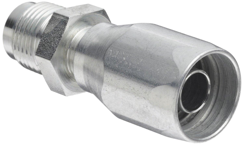SAE 37 Degree AISI//SAE 12L14 Carbon Steel 3//8 Tube Size 3//8 Hose ID 3//8 Tube Size 3//8 Hose ID EATON Weatherhead Coll-O-Crimp 06E-506 Male Rigid Fitting