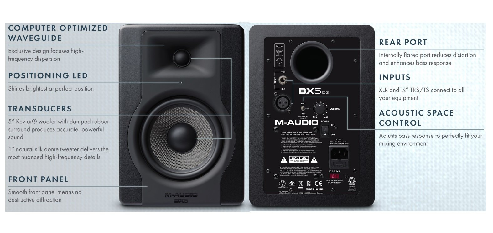 M-Audio BX5 D3 | 5'' Powered Studio Reference Monitor