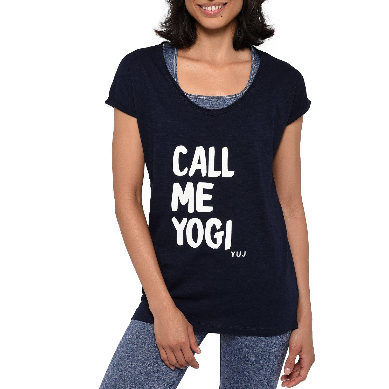 YUJ Damen Call Me Yogi T-Shirt