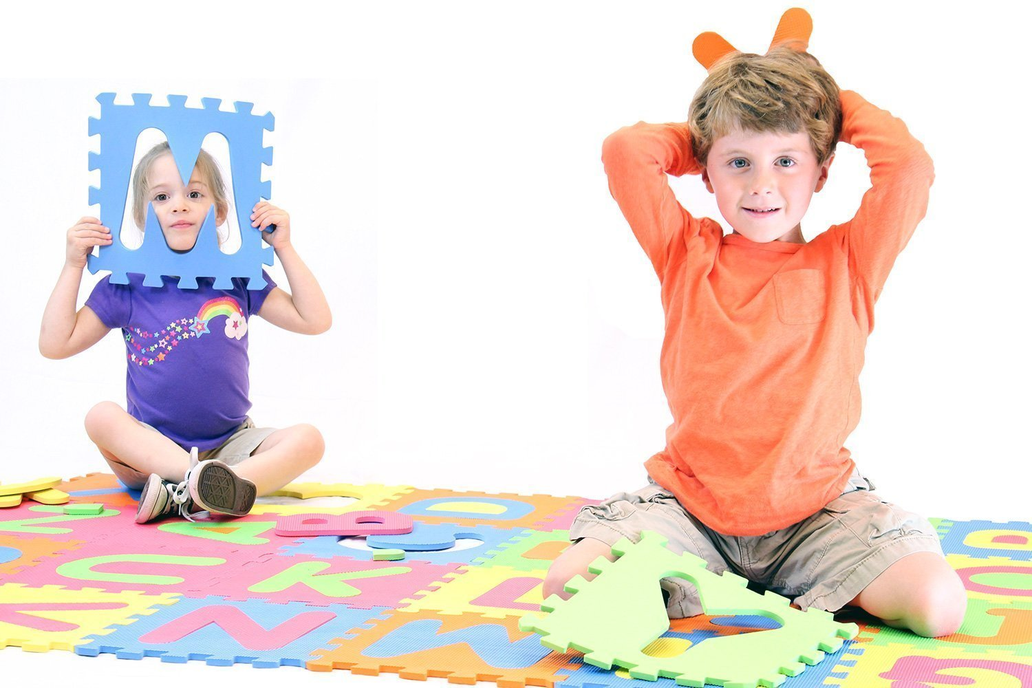 MOTA Alphabet ABC Mat – EVA Foam Anti Slip Foam Jigsaw Puzzle Floor Play Mat – 26 Tiles