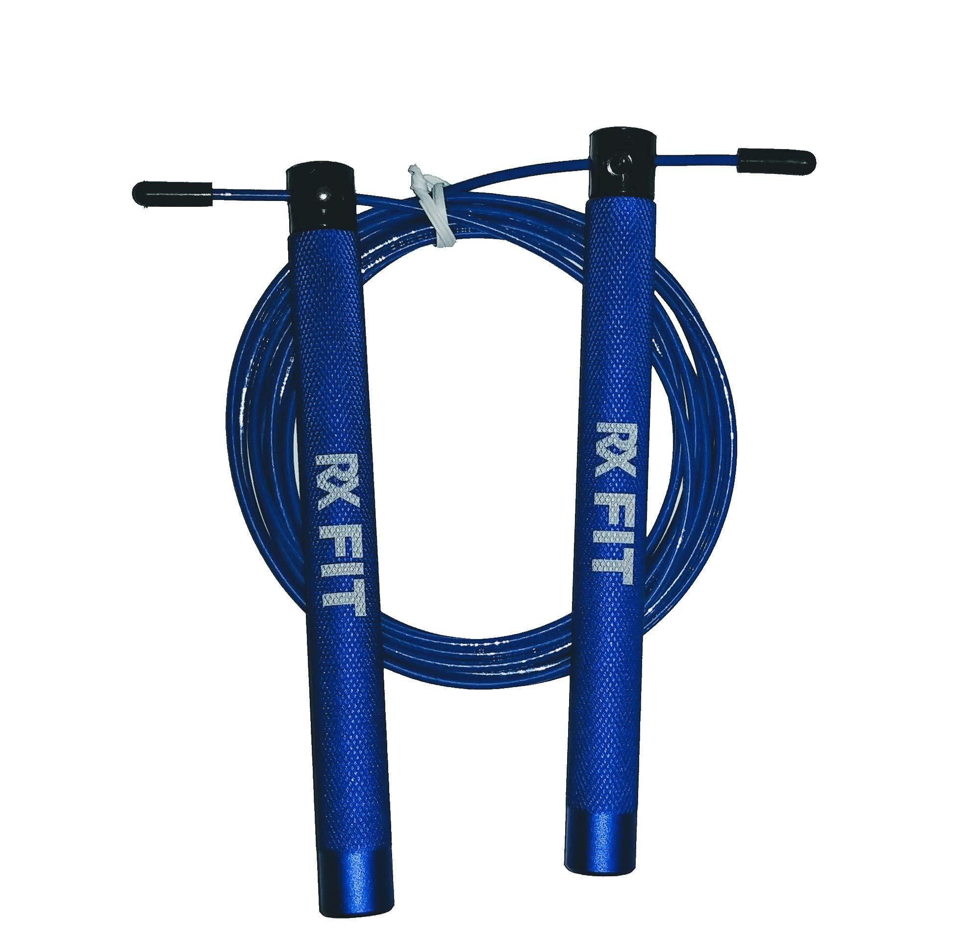 RxFIT Light Aluminum Handled Crossfit Jump Rope (Blue)