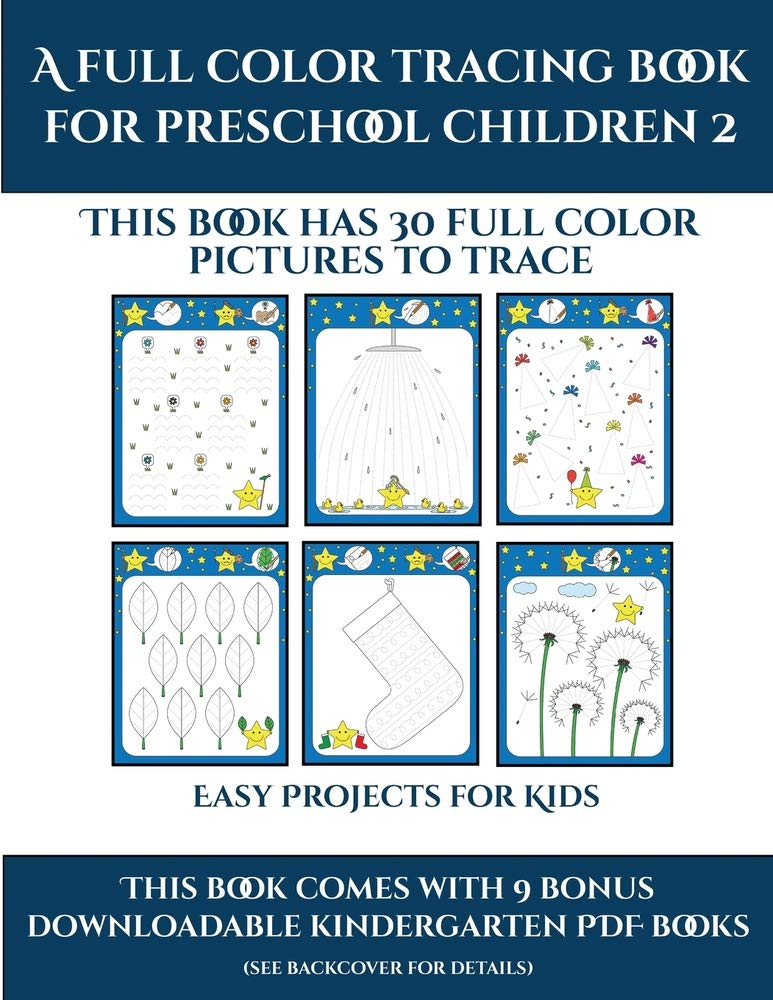 Printable Kindergarten Worksheets (Trace And Color For Preschool Children  2): This Book Has 50 Pictures To Trace And Then Color In.: Manning, James,  For Toddlers, Activity Books: 9781839321740: Amazon.com: Books