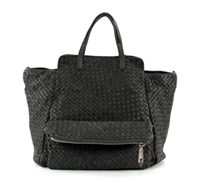 the latest 011ab 5a0c9 Marc O'Polo Woven Shopper Bag L with Zip Dark Grey: Amazon ...