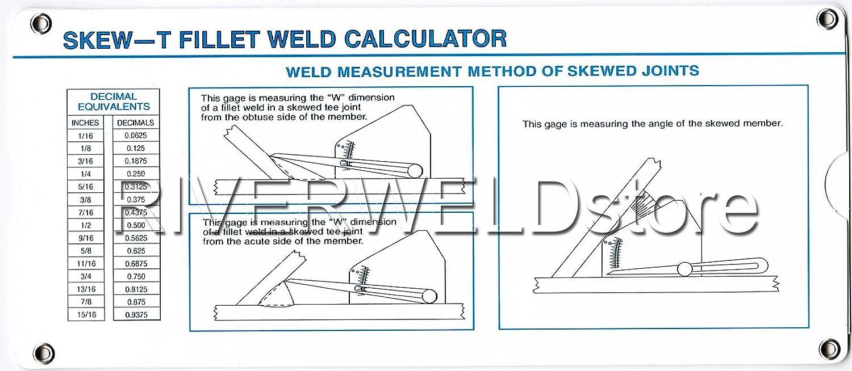 Skew-t Fillet Weld Gauge Gage Welding Inspection RIVERWELDstore