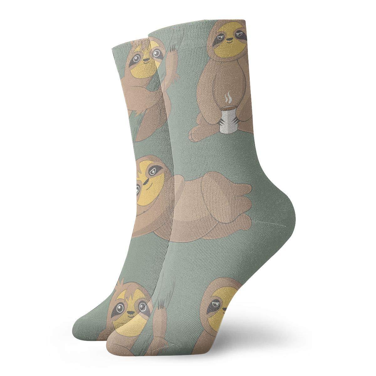 Baseball Athletic Best for Ski TAOMAP89 Three Nice Sloths Pattern Compression Ankle Socks for Women and Men Slipper Warm Socks