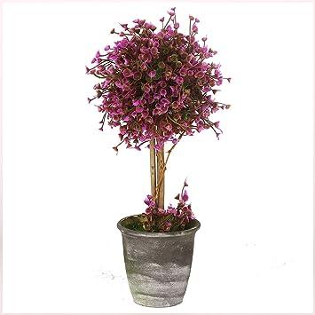 Vgia Artificial Potted Plants Retro Plastic Flowers Home Decoration Purple 12 Inch