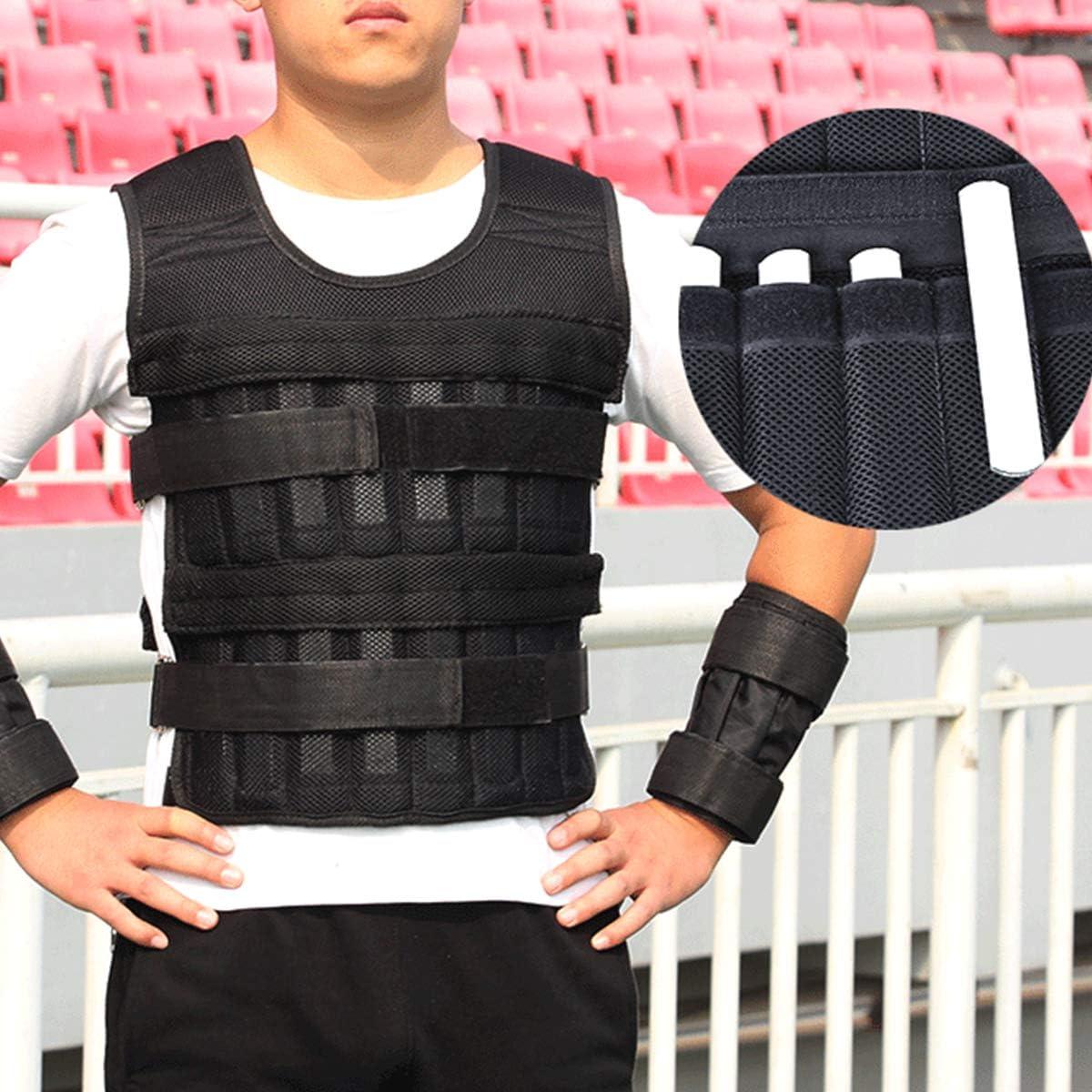 Gojiny Giubbotto Pesato Regolabile Giacca Peso Corporeo Regolabile 15 kg 33 kg per Allenamento Fitness