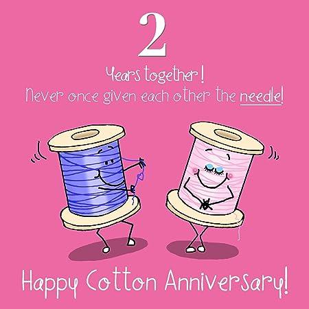 2 Anniversario Di Matrimonio.Biglietto D Auguri 2 Anniversario Di Matrimonio Motivo