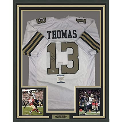 buy popular 998f4 48da0 Framed Autographed/Signed Michael Thomas 33x42 New Orleans ...