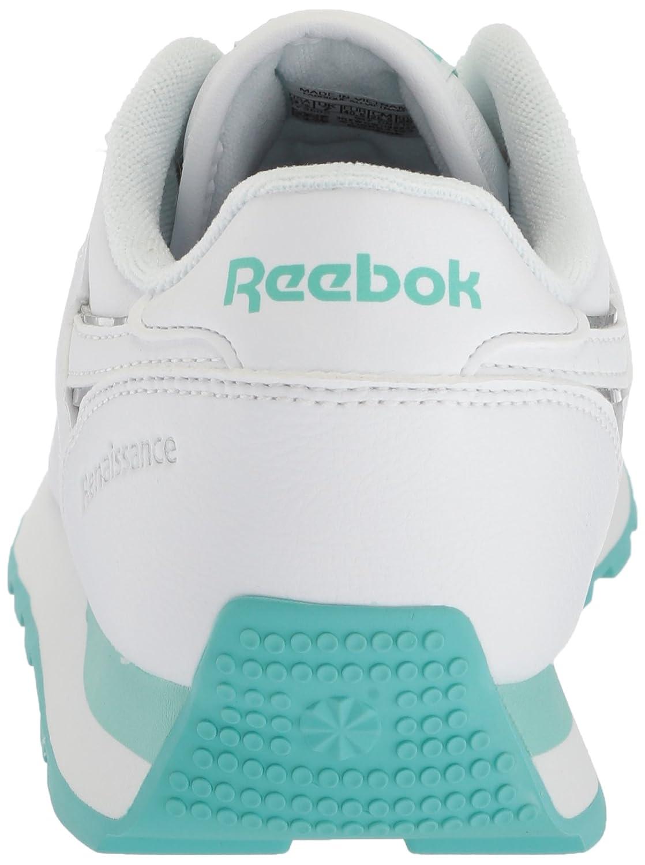 Reebok Women's Classic Renaissance Walking Shoe B078VKFNBN 10.5 B(M) US|White/Turquoise