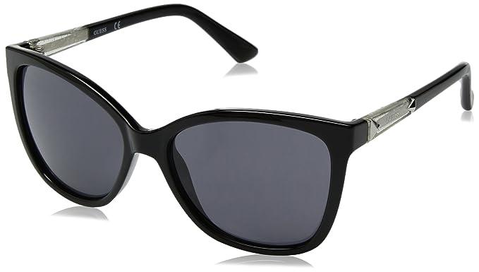293aaca224 Amazon.com  GUESS Women s Acetate Square cat-Eye Cateye Sunglasses ...