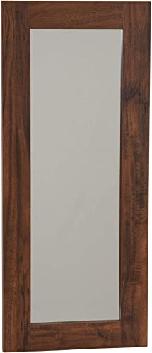 Household Essentials Hickory 8118-1 Rectangle Wall Mirror D cor 29.5 in x 12.6