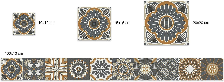 Panorama Stickers Carrelage Ashesif Cuisine Salle de Bain 72 Pi/èces de 10x10cm Hydraulique Bleu Sticker Autocollant Carrelage Autocollant adh/ésif en Vinyle pour Carreaux muraux