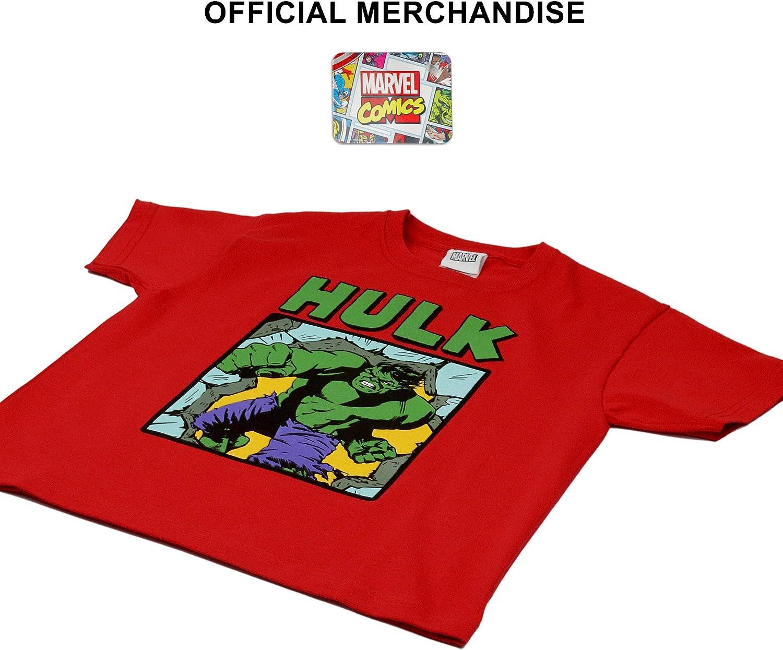 Marvel Comics Hulk Smash Camiseta de los Muchachos/ mercanc/ía Oficial