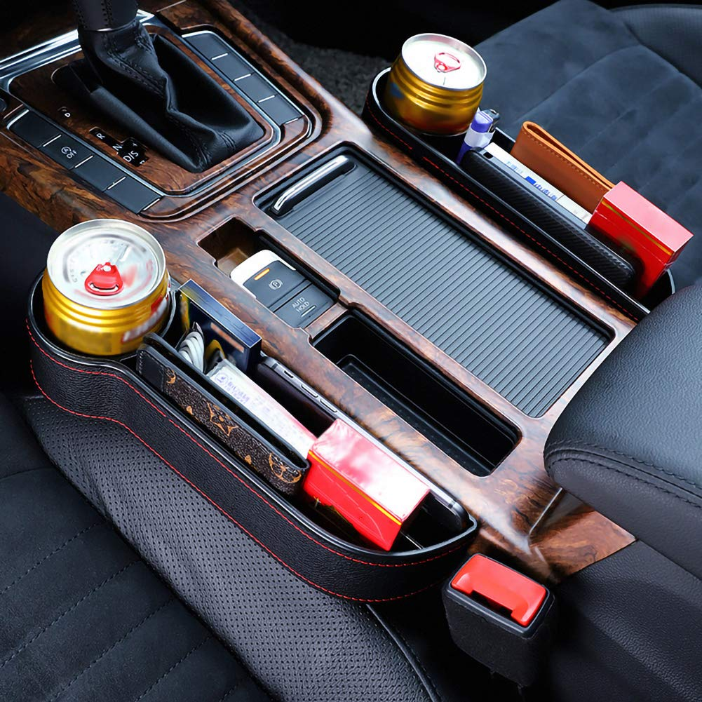 Monete Destra Ajboy in plastica Contenitore portaoggetti per Auto Chiavi Tasca Laterale per Telefono Bianco